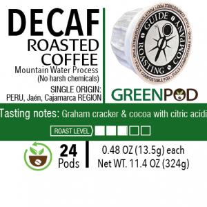 Decaf Peru GreenPods